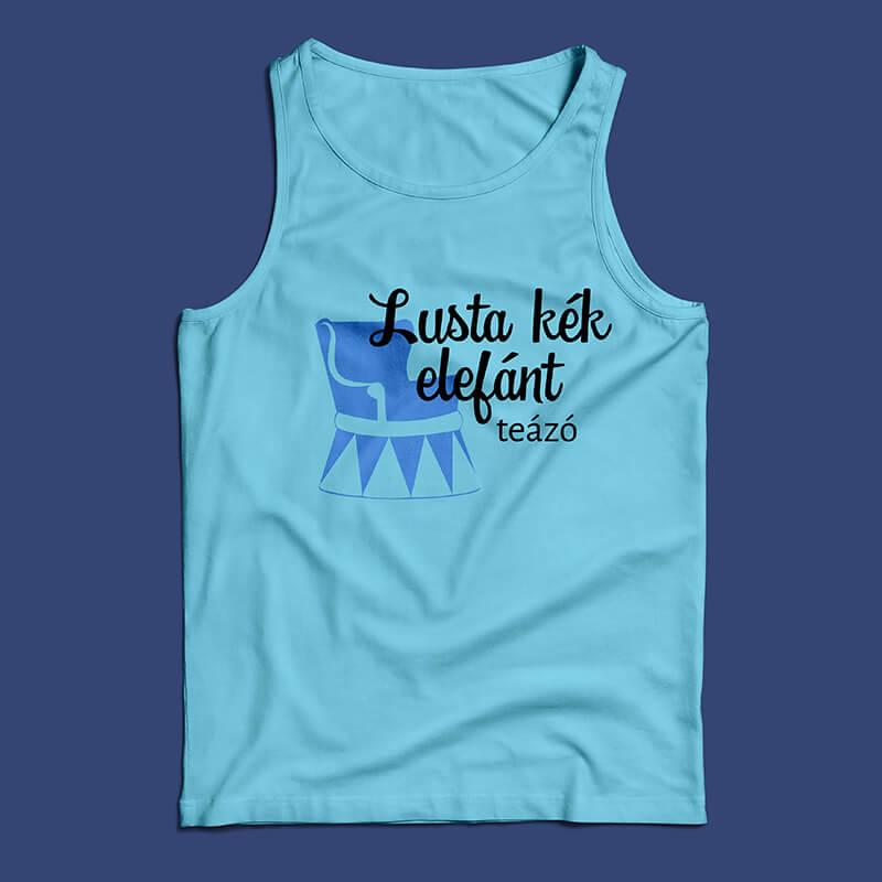 Lusta kék elefánt logós póló