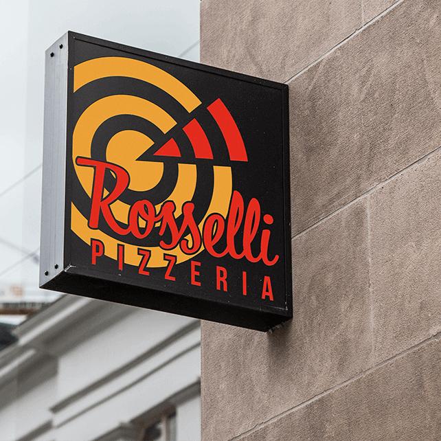 Rosselli Pizza üzlettábla