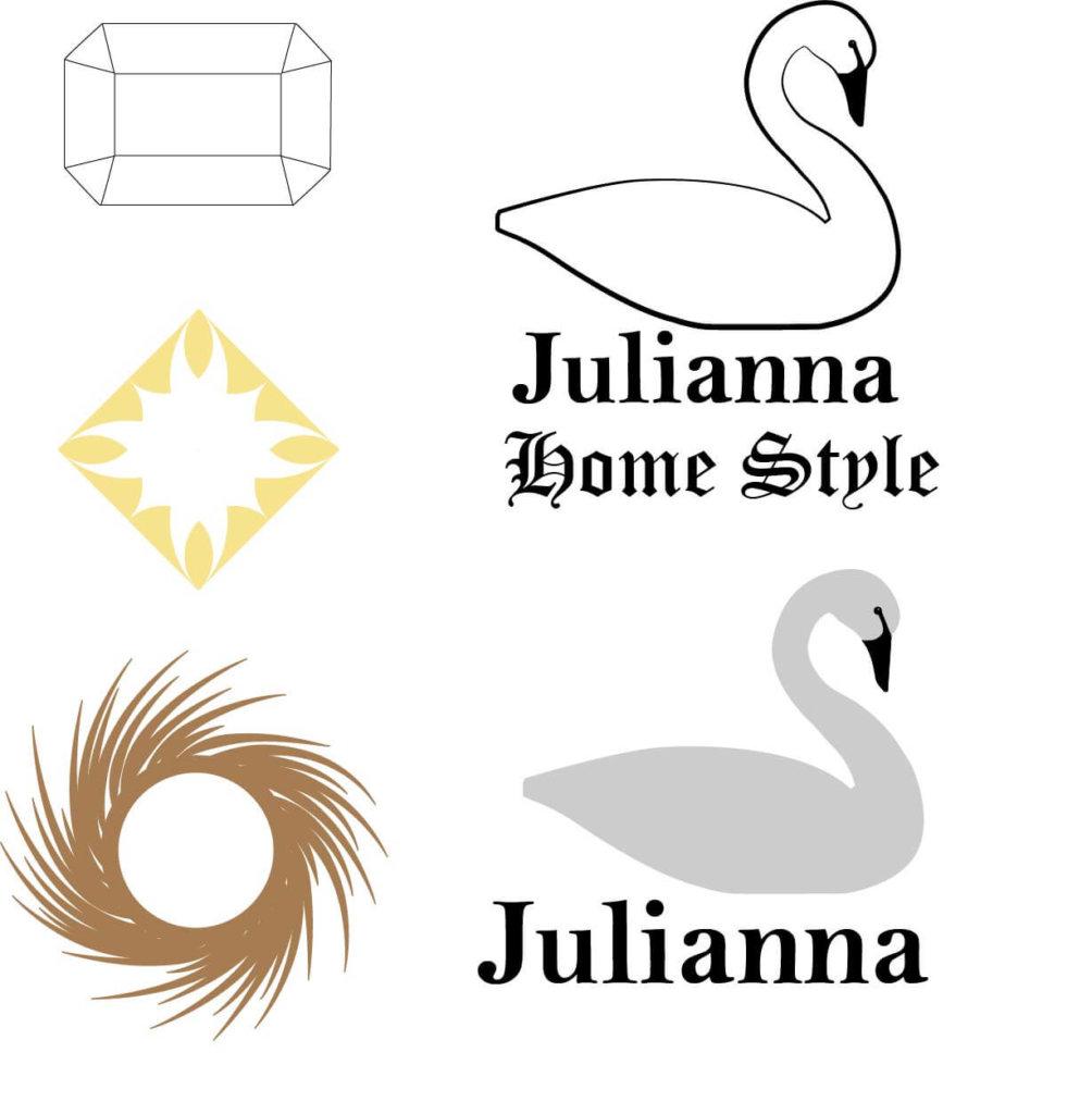 Julianna logó variációk