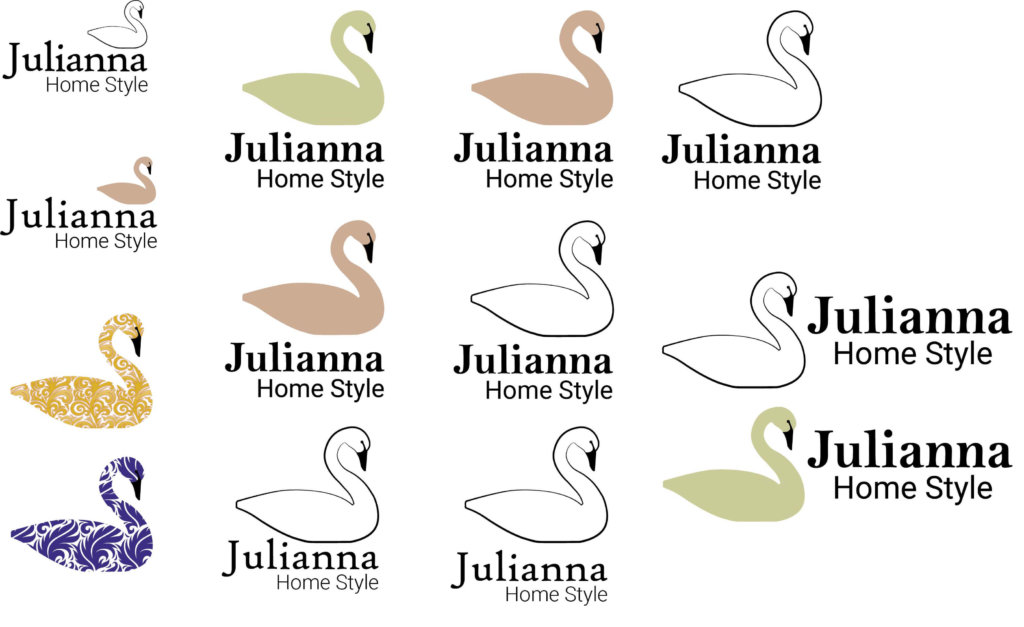 Julianna logó typo variációk