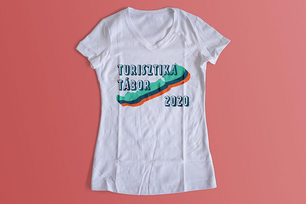 Turisztika táboros póló