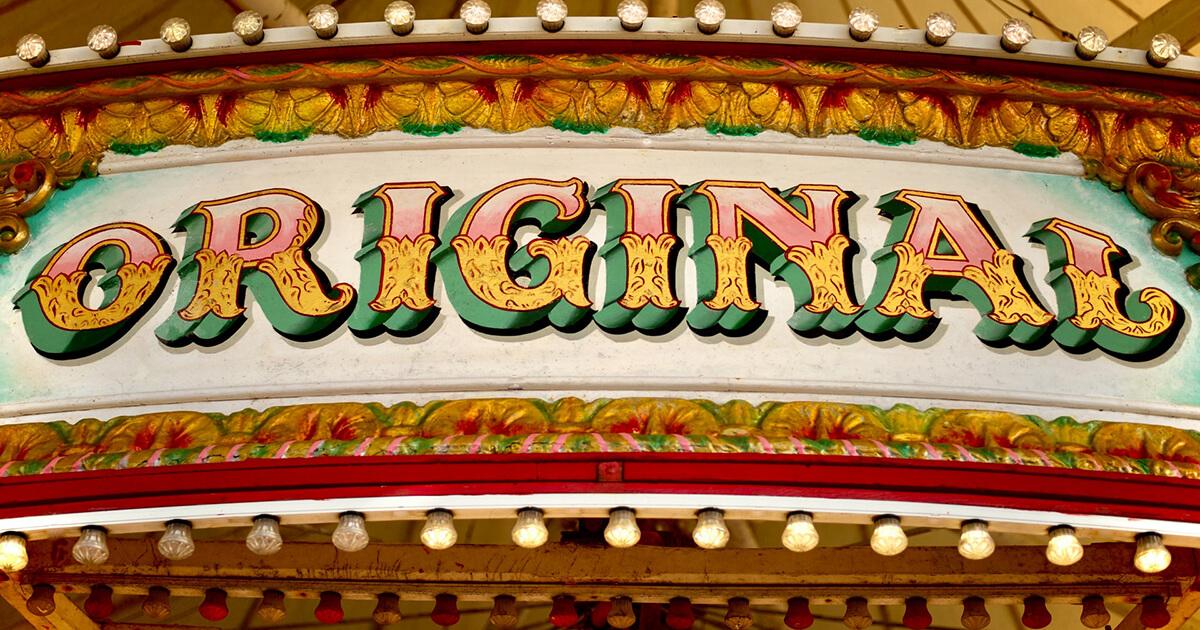 cirkuszi felirat: original!